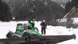 Snowmobile loading fail