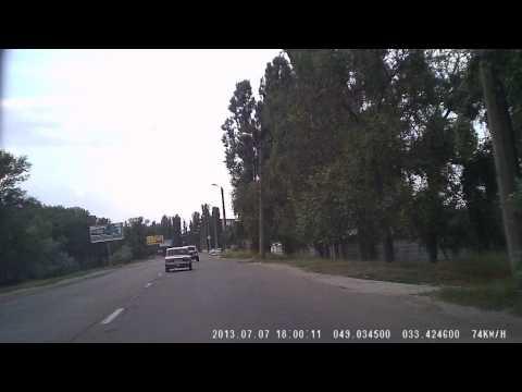 ДТП в Украине, Кременчуг 07.07.2013 (Жигули, столб)