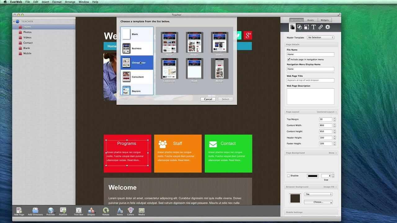 Make Your Own Website The Best Website Builder For Os X