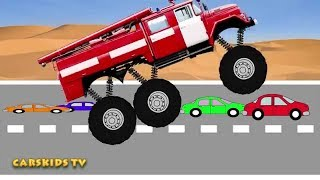 Animated Monster Fire Truck - Mega Crushing