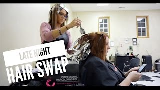 Late Night Hair Swap /Giveaway - ShannaMarieB VLOGS