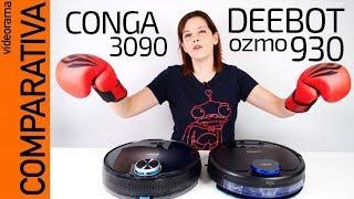 Conga 3090 vs Deebot Ozmo 930 COMPARATIVA robot aspirador fregona