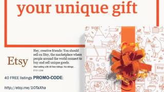 Etsy 40 free listings PROMO CODE open shop