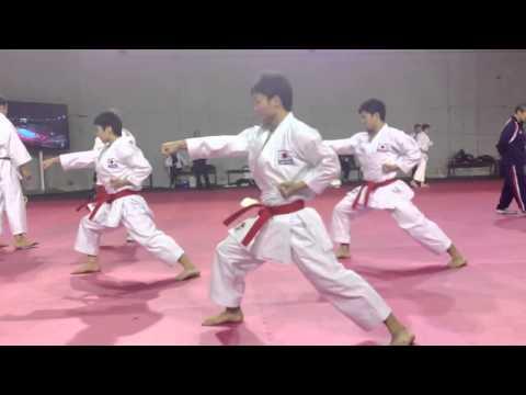 Japan National Karate Team   'Jion' training @ WKF World Championship 2012