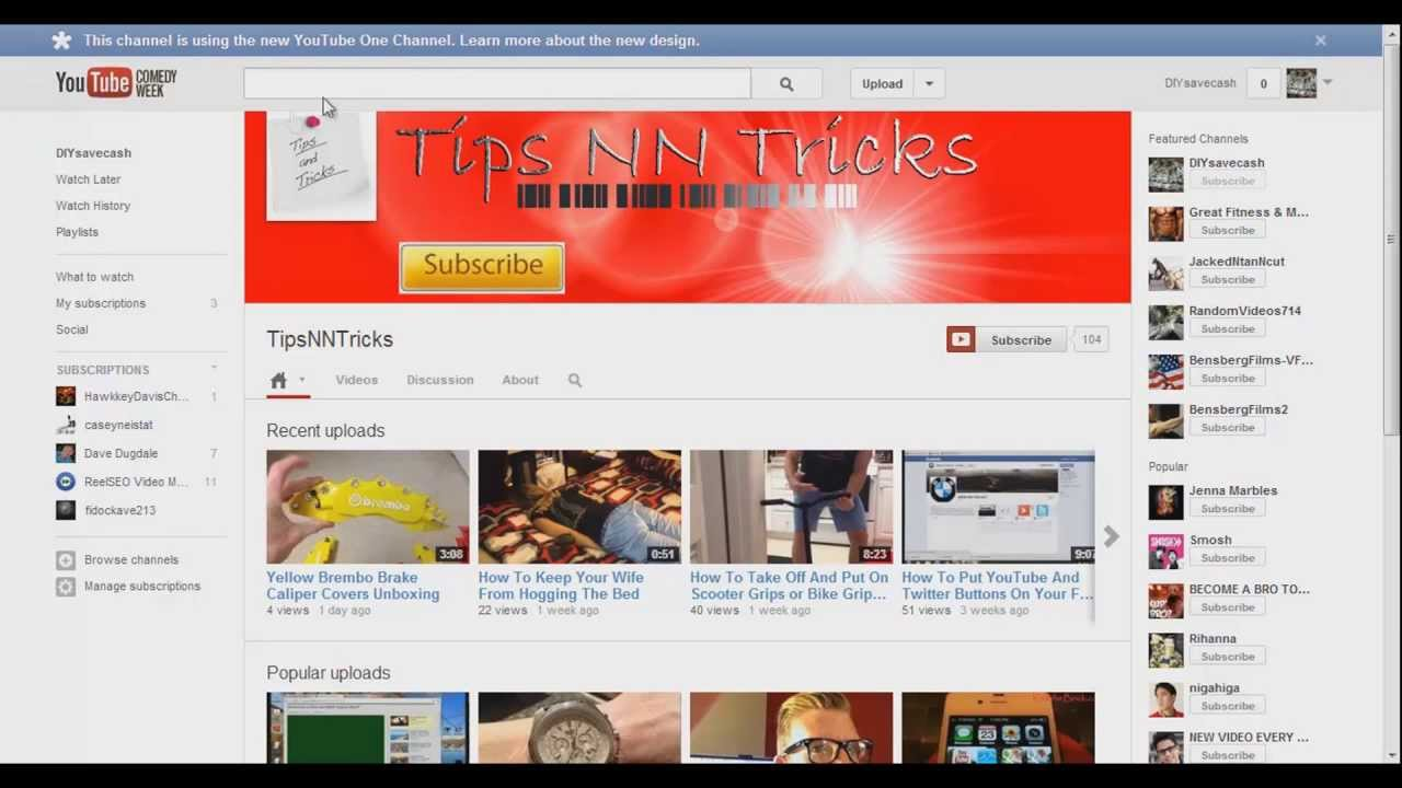 How to create youtube channel art for your youtube one channel page