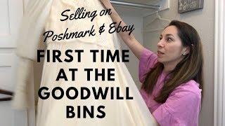 My FIRST time at the BINS: Goodwill outlet haul & my experience