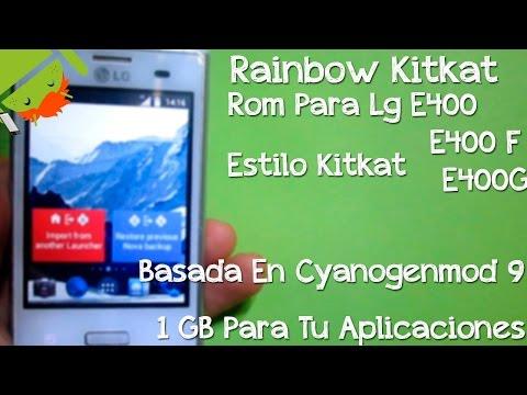 Gran Rom Para LG E400 E400F E400G   Estilo Kitkat   Cyanogenmod 9   Android 4   1GB Para Apps