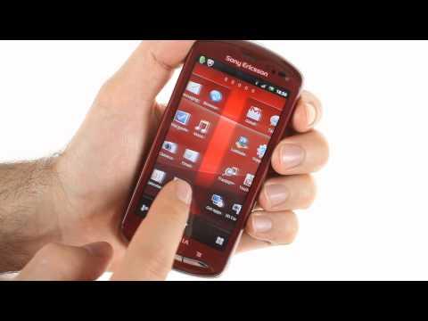 Sony Ericsson Xperia pro UI demo