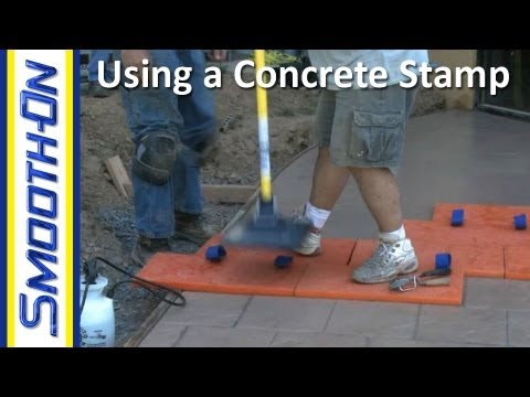 How to Use a Concrete Stamp