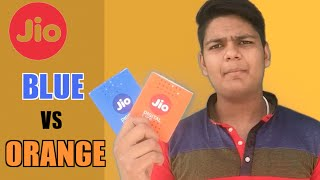 Difference Between Orange and Blue JIO SIM - Which One Should You Pick And Which is Better
