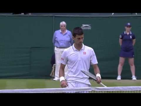 Djokovic celebrates a tough win over Simon - Wimbledon 2014