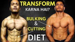 Bodybuilding DIET for BULKING & FAT LOSS | How to Calculate Maintenance Calories - Make Diet Plan