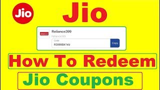 How to use Jio Coupons For 100% Cashback Offer | Redeem Jio Coupon 100% Cashback Offer