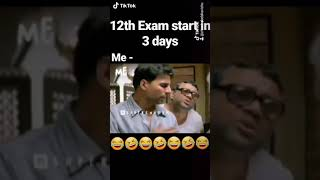 Students before examinations