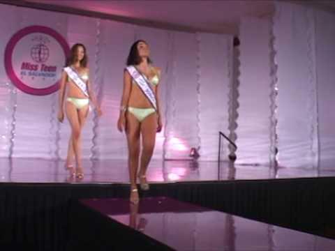 Miss Teen El Salvador 2008 traje de baño parte 1