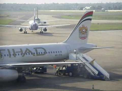 Etihad Airways Landing And Take Off At Chennai Airport