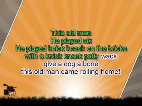 Karaoke for kids - This Old Man - key -3 - with backing melody
