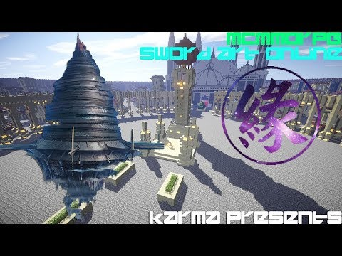 Sword Art Online MMORPG In Minecraft!? (Karma Network!) Coming 6-16-17!