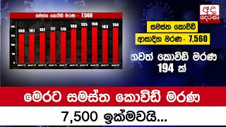 Sri Lanka's COVID-19 death toll exceeds 7,500