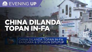 China Dilanda Topan In-Fa Bandara & Stasiun Ditutup