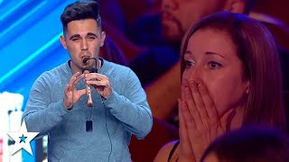 Download lagu Crowd Gets Emotional Over Man Playing TITANIC on Flute!   Spain's Got Talent   Got Talent Global