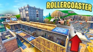 BUILDING AN EPIC ROLLERCOASTER in TILTED TOWERS in Fortnite
