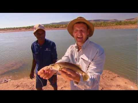 Homevalley Station Kimberley Hand line Barra, Fishing Australia 2011.mov