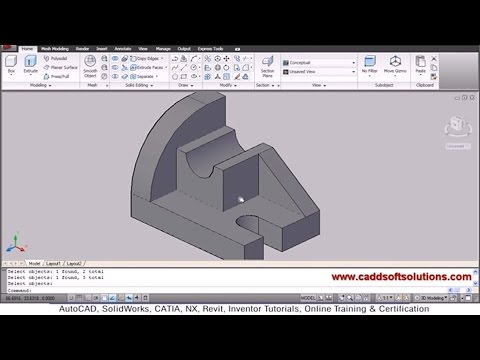 AutoCAD 3D Objects Modeling Tutorial for Beginners   AutoCAD 2010