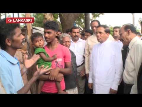 Sri lankan President Met jaffna People