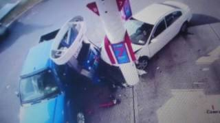 Accidente en gasolinera