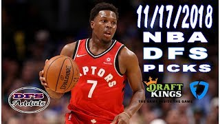 FANDUEL AND DRAFTKINGS FIRST TAKE NBA DFS 11/17/2018... SATURDAY 9 GAME SLATES