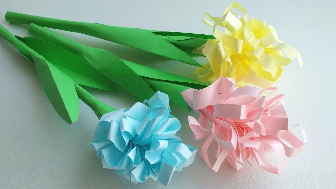 Цветы бумажные поделки 49