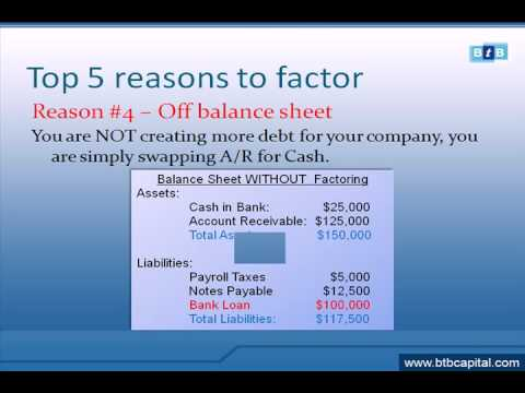 www.btbcapital.com Factoring 101, top 5 reason to factor invoices to ...