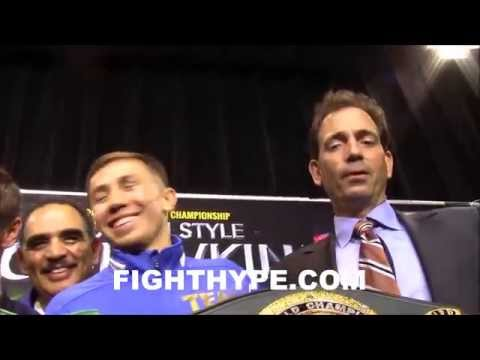 GOLOVKIN LAUGHS OFF TALK OF MAYWEATHER FIGHT THINKS HELL HAVE MORE MEXICAN FANS THAN CHAVEZ JR