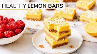 LEMON BARS | easy, healthy recipe