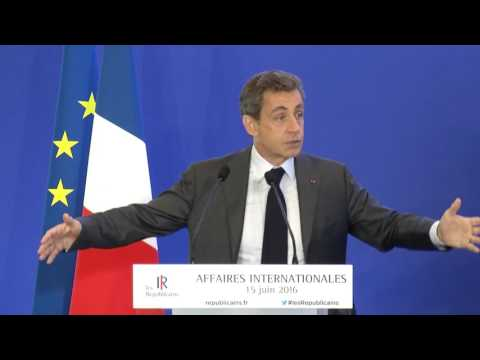 Journée de travail affaires internationales - Nicolas Sarkozy