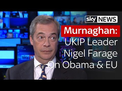 Nigel Farage On Obama's EU Referendum Intervention | Murnaghan