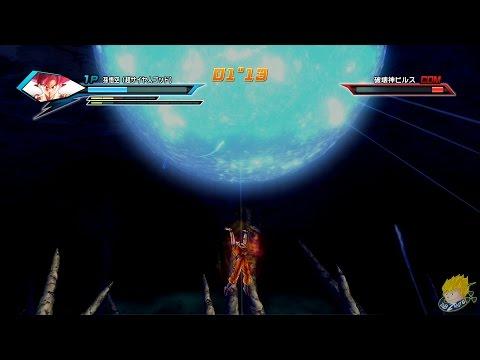 Dragon Ball Xenoverse (PS4):Super Saiyan God Goku [SPIRIT BOMB]  Vs Beerus【60FPS 1080P】