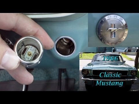 Car Cigarette Lighter - How To Remove and Replace - Classic Mustang