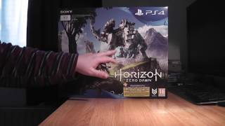 PS4 Slim Horizon Zero Dawn edition unboxing