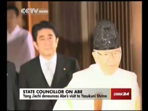 Yang Jiechi denounces Abe's visit to Yasukuni Shrine