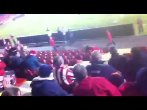 Sligo Rovers fan gets hit with ball