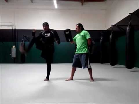 Kickboxing 101: Uppercut elbow and Cresent Kicks Image 1