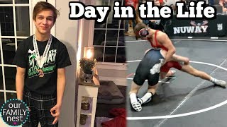 DAY IN THE LIFE OF A HIGH SCHOOL WRESTLER | 24 HOURS WITH CHASE!