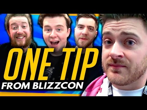 Overwatch | ONE TIP From Everyone At BLIZZCON - ft Muselk, Stylosa & More