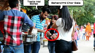 EATING GIRL'S PANI PURI PRANK - EPIC REACTIONS - PRANK IN  INDIA| By TCI