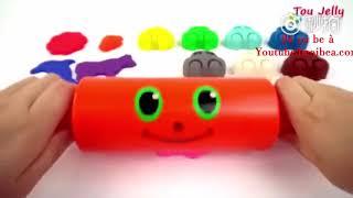 Tổng hợp đồ chơi cho bé: đồ chơi đất nặn hình ô tô- dạy bé đếm bằng tiếng anh