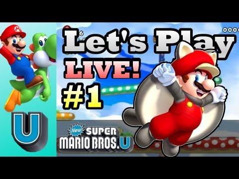 New Super Mario Bros. U - Let's Play LIVE! Part 1 (Wii U Gameplay Walkthrough)