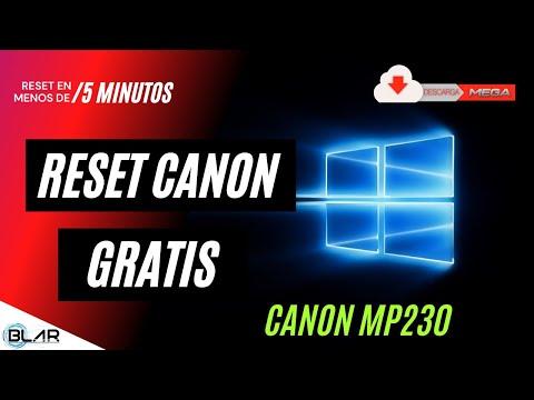 Reset Canon mp230 Gratis + link de descarga MEGA 2018