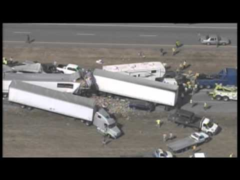 Massive pileup of vehicles on I-10 near Beaumont, TX